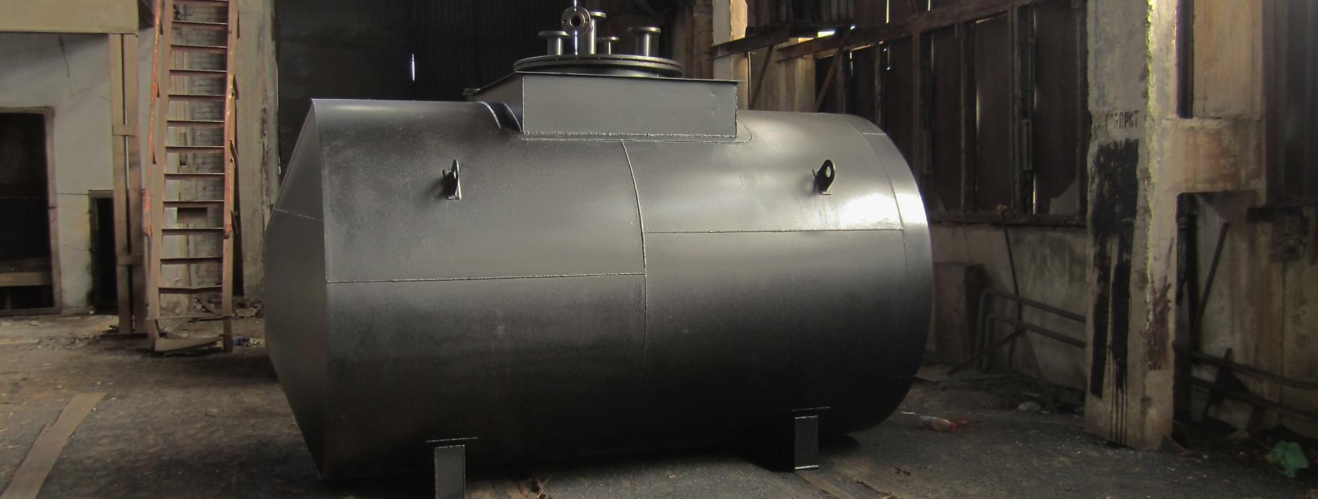Двустенный горизонтальный резервуар РГСД-100